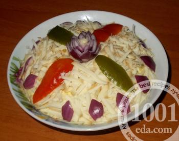 Салат Беленький с рисом и рыбной консервой