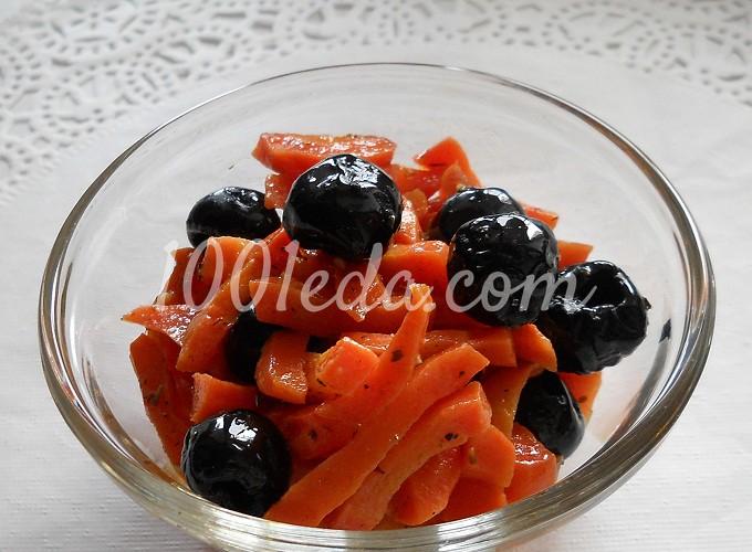 Морковь, запеченная с маслинами в прованском стиле