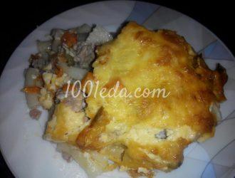 Запеканка макароны под овощной и мясной шубой: рецепт с пошаговым фото
