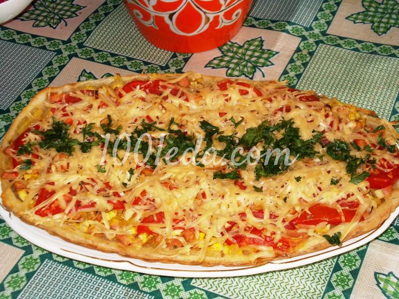 Пицца со слоеным тестом рецепт с фото пошагово