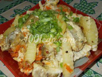 Рыбка в овощной шубке, тушёная в мультиварке: рецепт с пошаговым фото