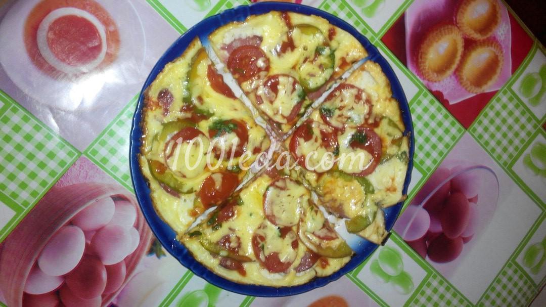 Пицца на сковороде с пошаговыми