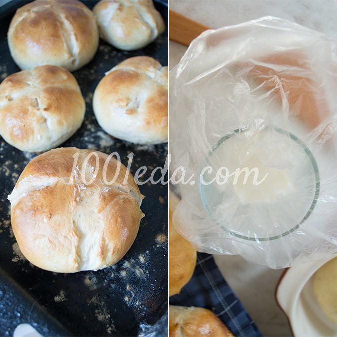 Ароматные пасхальные булочки кросс-банс: рецепт с пошаговым фото - Шаг №18