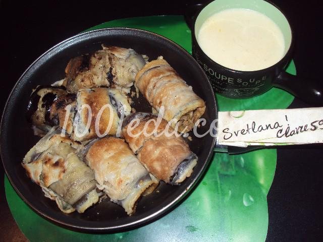 Баклажаны фаршированные на сковороде: пошаговое фото - Шаг №4