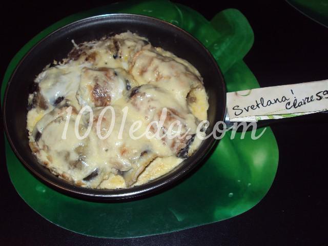 Баклажаны фаршированные на сковороде: пошаговое фото - Шаг №6