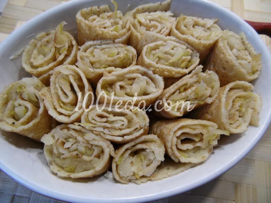 Блинная запеканка с грушами: рецепт с пошаговым фото - Шаг №5