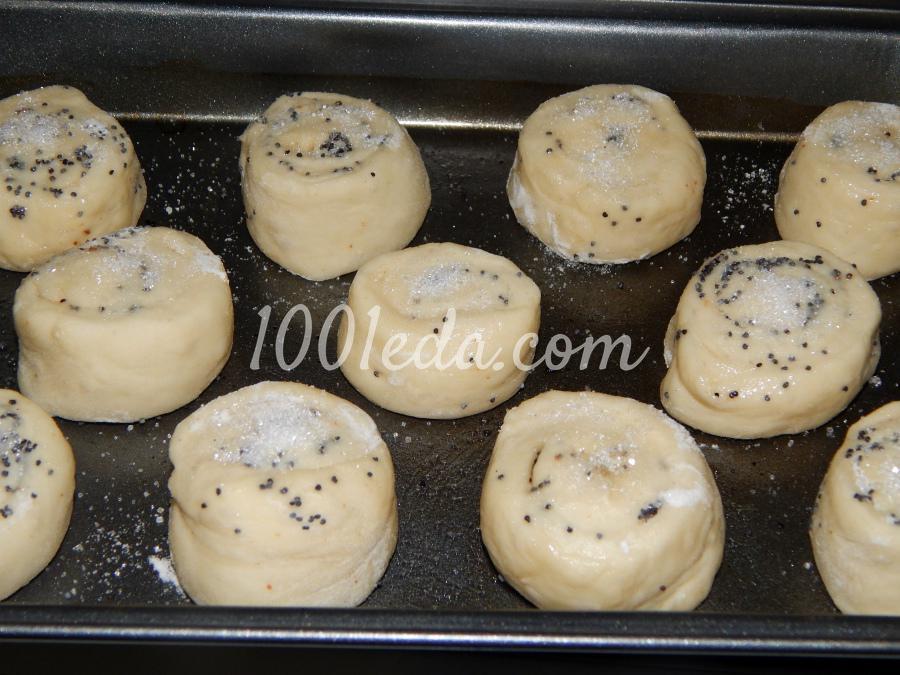 Рецепт булочек с сахаром пошаговый рецепт с