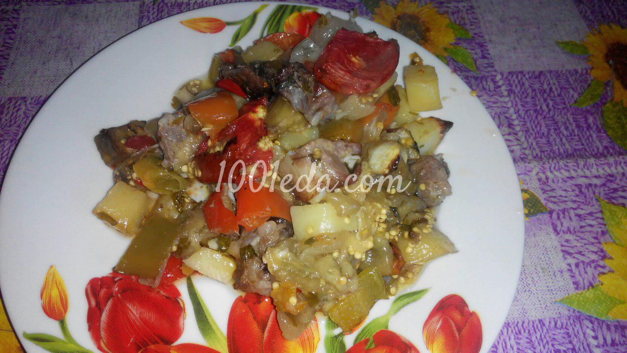 Овощное рагу запеченные в духовке рецепт с фото