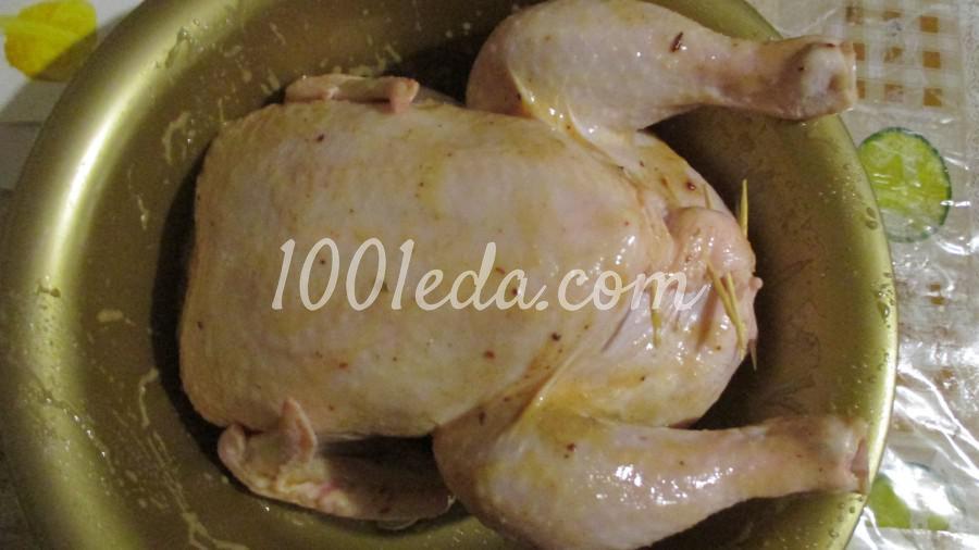 Цыпленок фаршированный сыром: пошаговое фото - Шаг №3