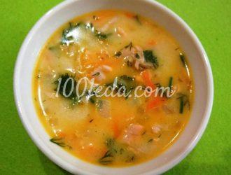 Сырный суп из красной рыбы