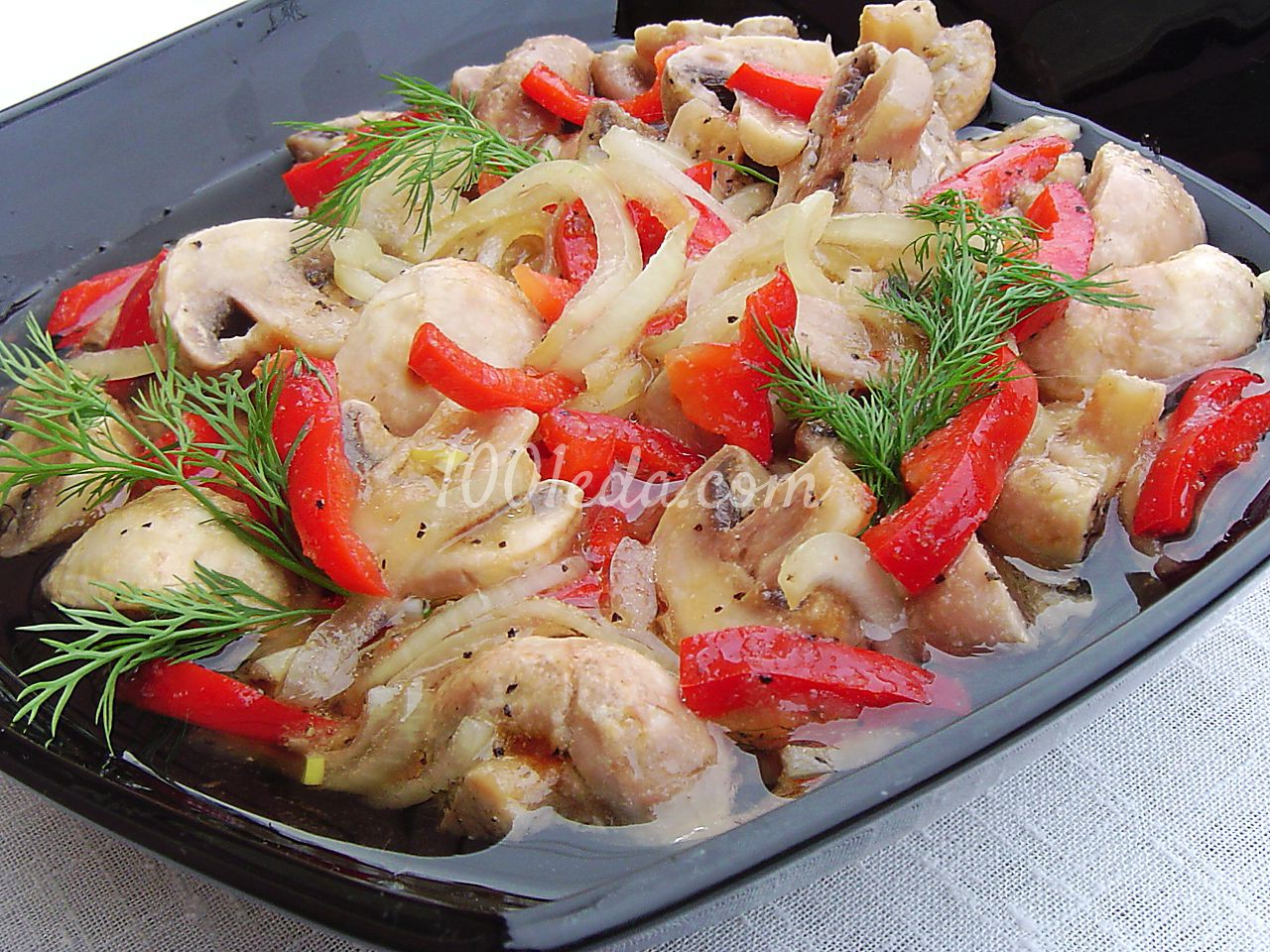 Шампиньон рецепт салат свежих