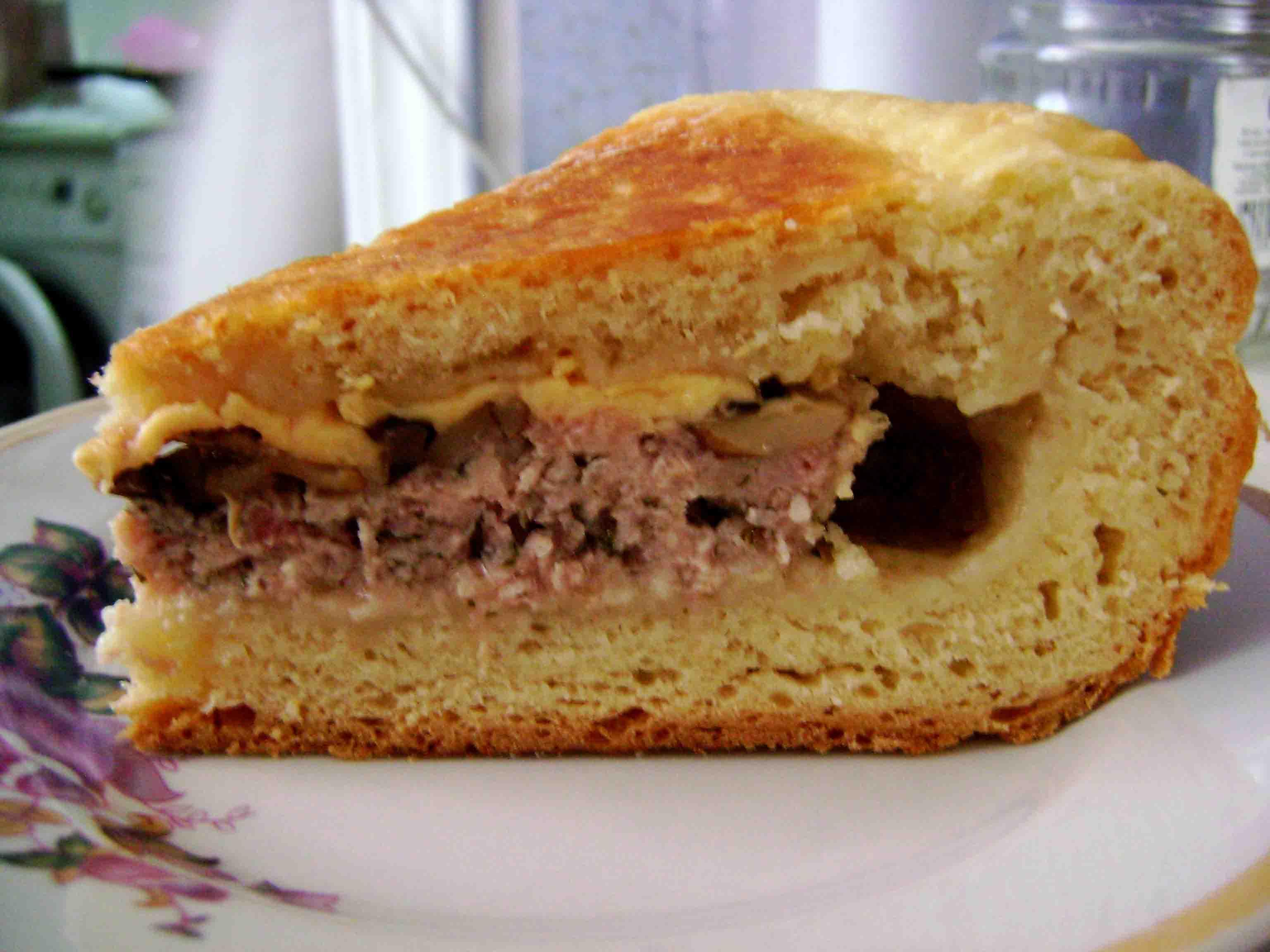 Мясной пирог рецепт пошагово в мультиварке