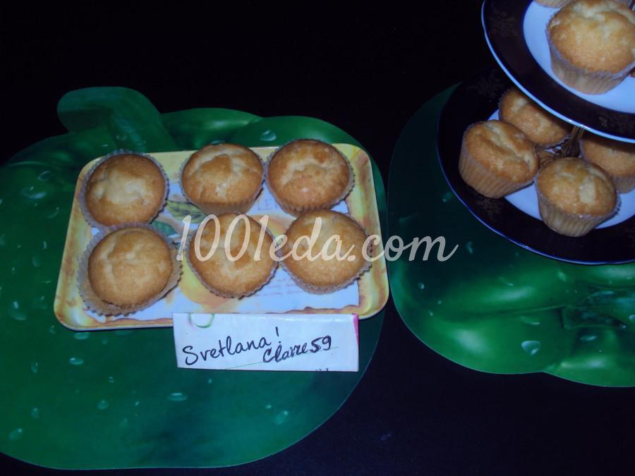 Ванильные кексы с кокосовой стружкой