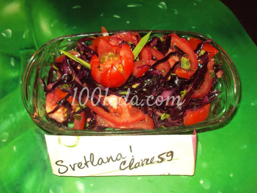 Салат из краснокочанной капусты и помидоров
