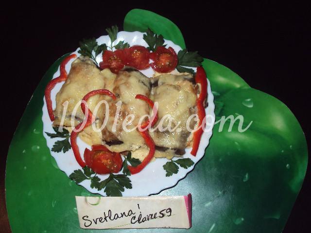 Баклажаны фаршированные на сковороде: пошаговое фото