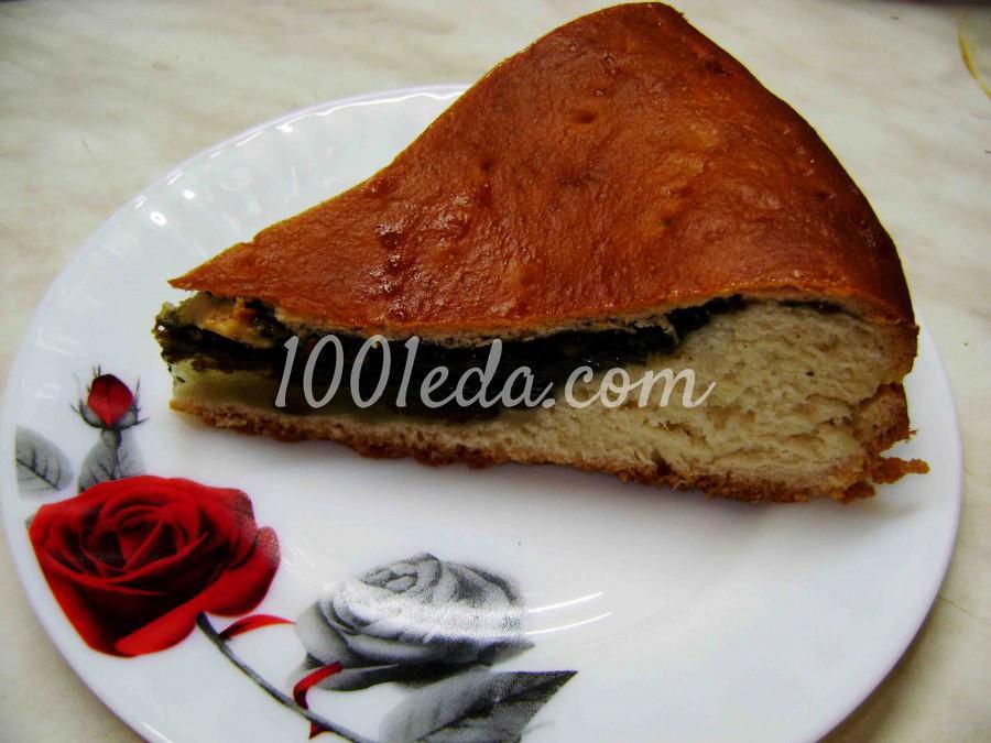 Вкусный постный пирог с щавелем