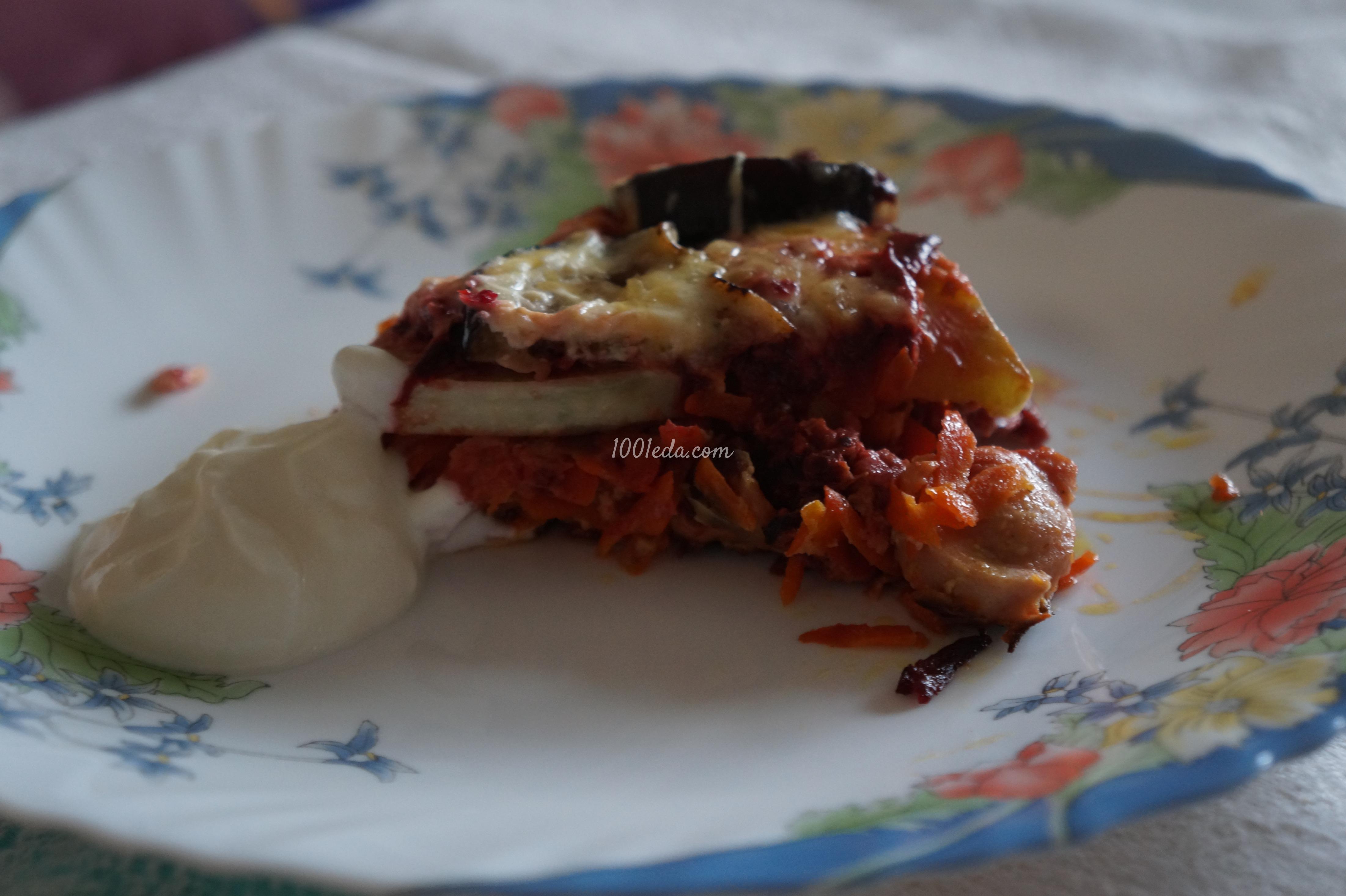 Овощная запеканка с сосисками: рецепт с пошаговым фото