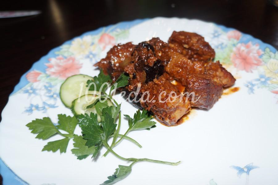 Свинина с черносливом и грецким орехом