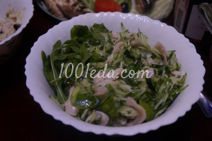 Салат с кальмаром и яблоком рецепт с 162