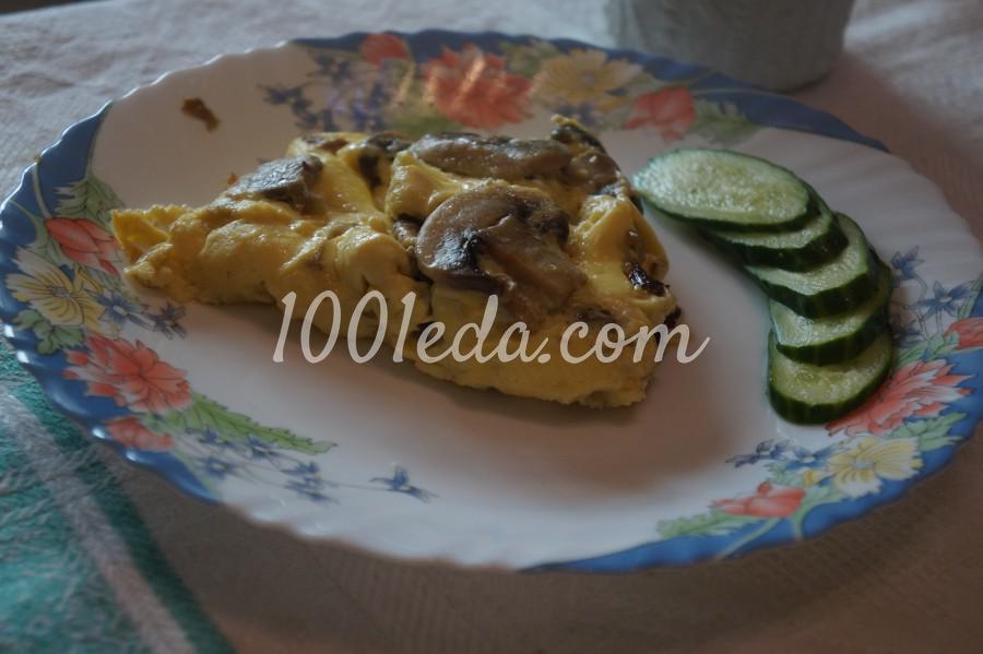 Омлет с грибами и луком: рецепт с пошаговым фото