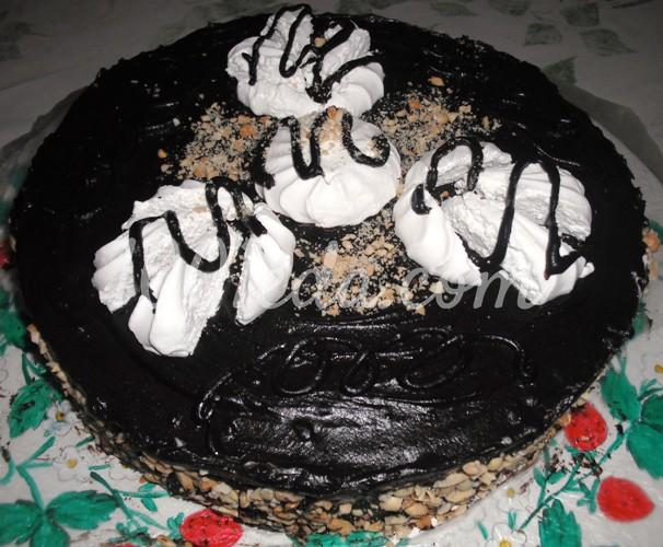 Торт бисквитный Воздушный зефир в шоколаде: рецепт с пошаговым фото
