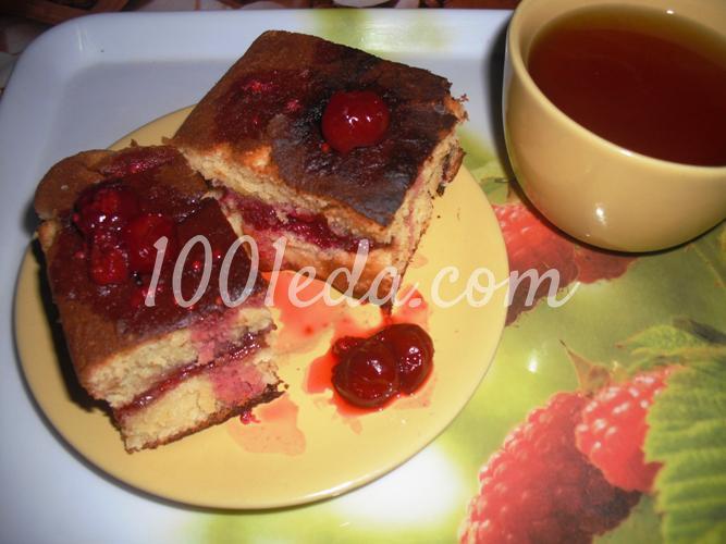 Вишневый пирог рецепт с со сливками и