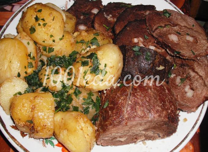 говядина под картофельной шубой в духовке рецепт