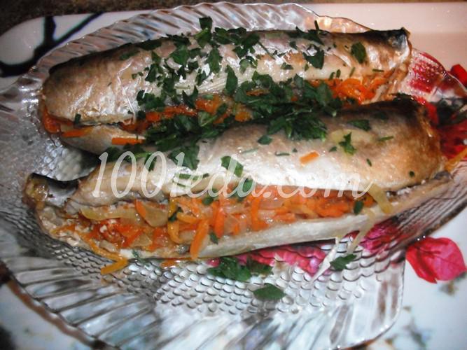 Скумбрия, фаршированная овощами и запеченная в фольге: рецепт с пошаговым фото