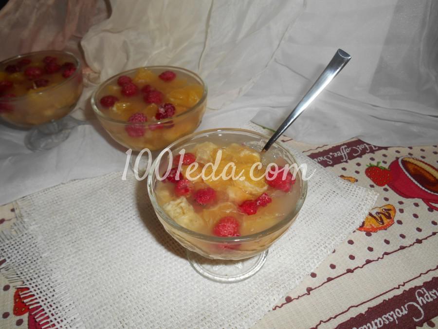 Желе с фруктами рецепт с пошагово