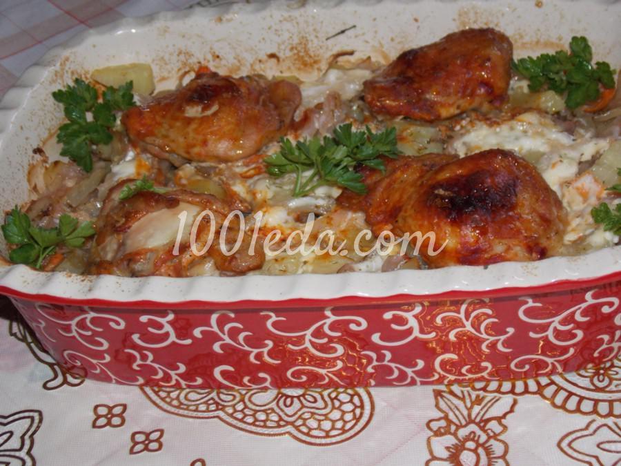 Курица на овощной подушке: рецепт с пошаговым фото