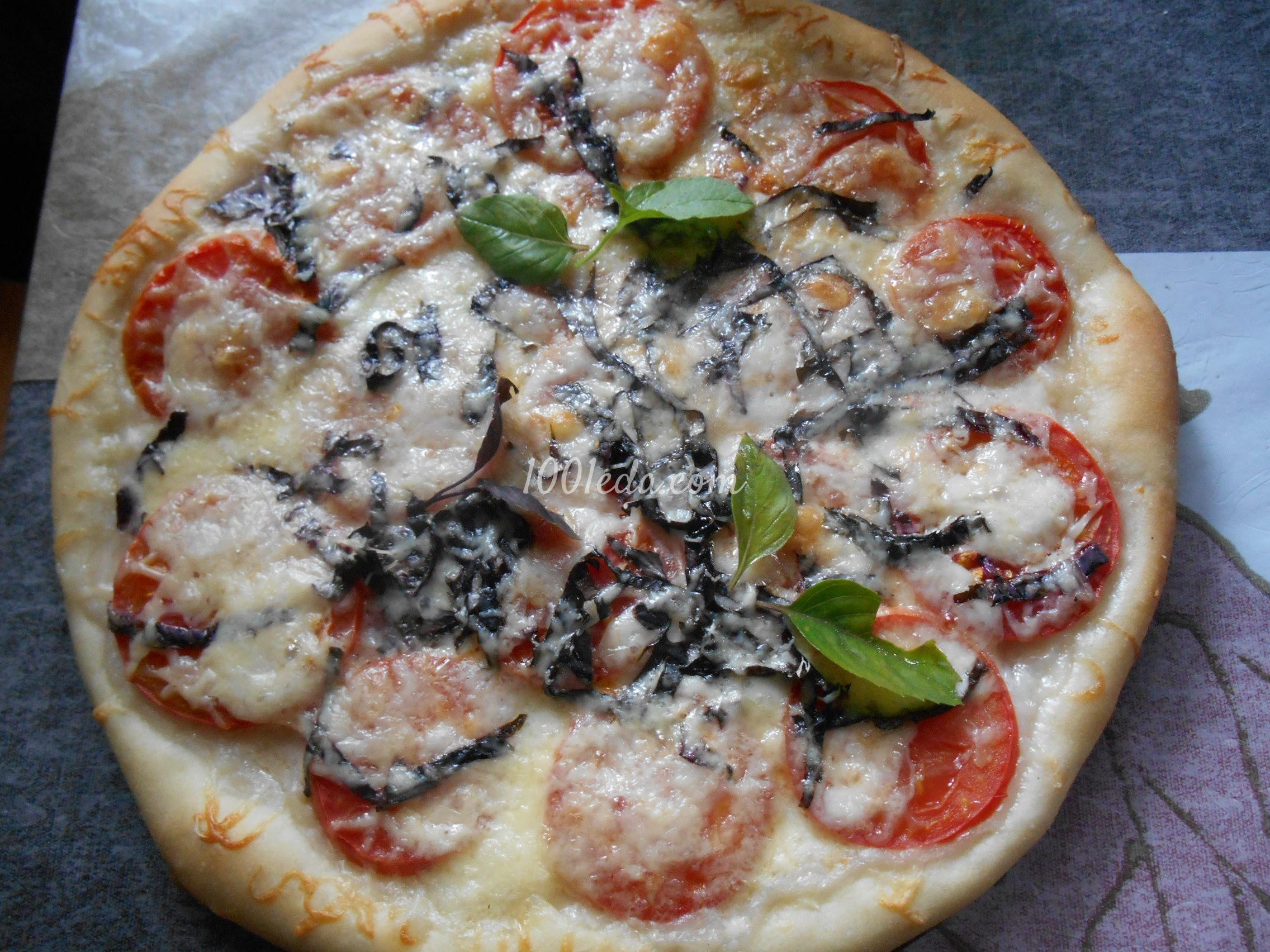 Пицца с помидорами и моцареллой рецепт пошагово