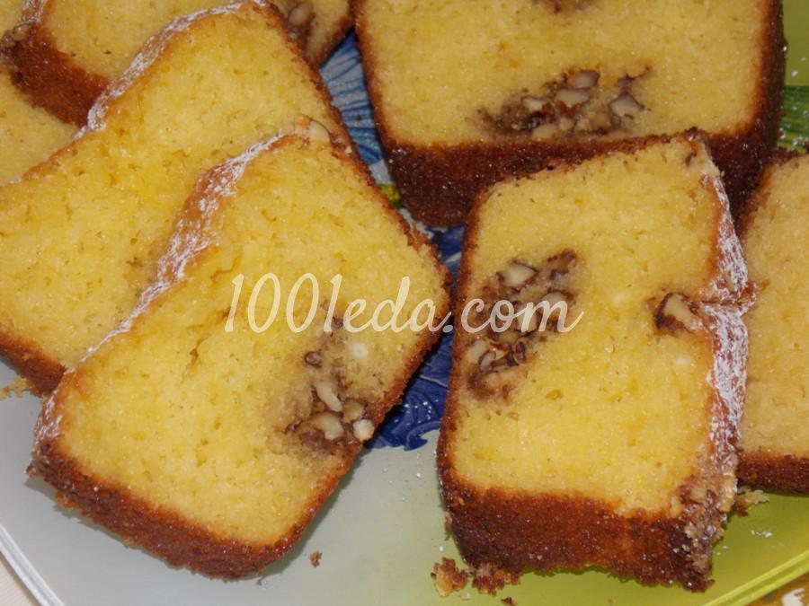 Творожный кекс с орехами: рецепт с пошаговым фото