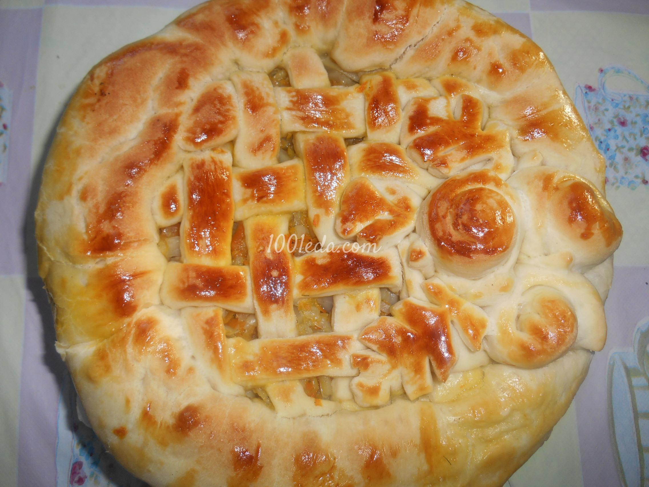 Пироги с капустой рецепт пошагово в духовке с сухими дрожжами