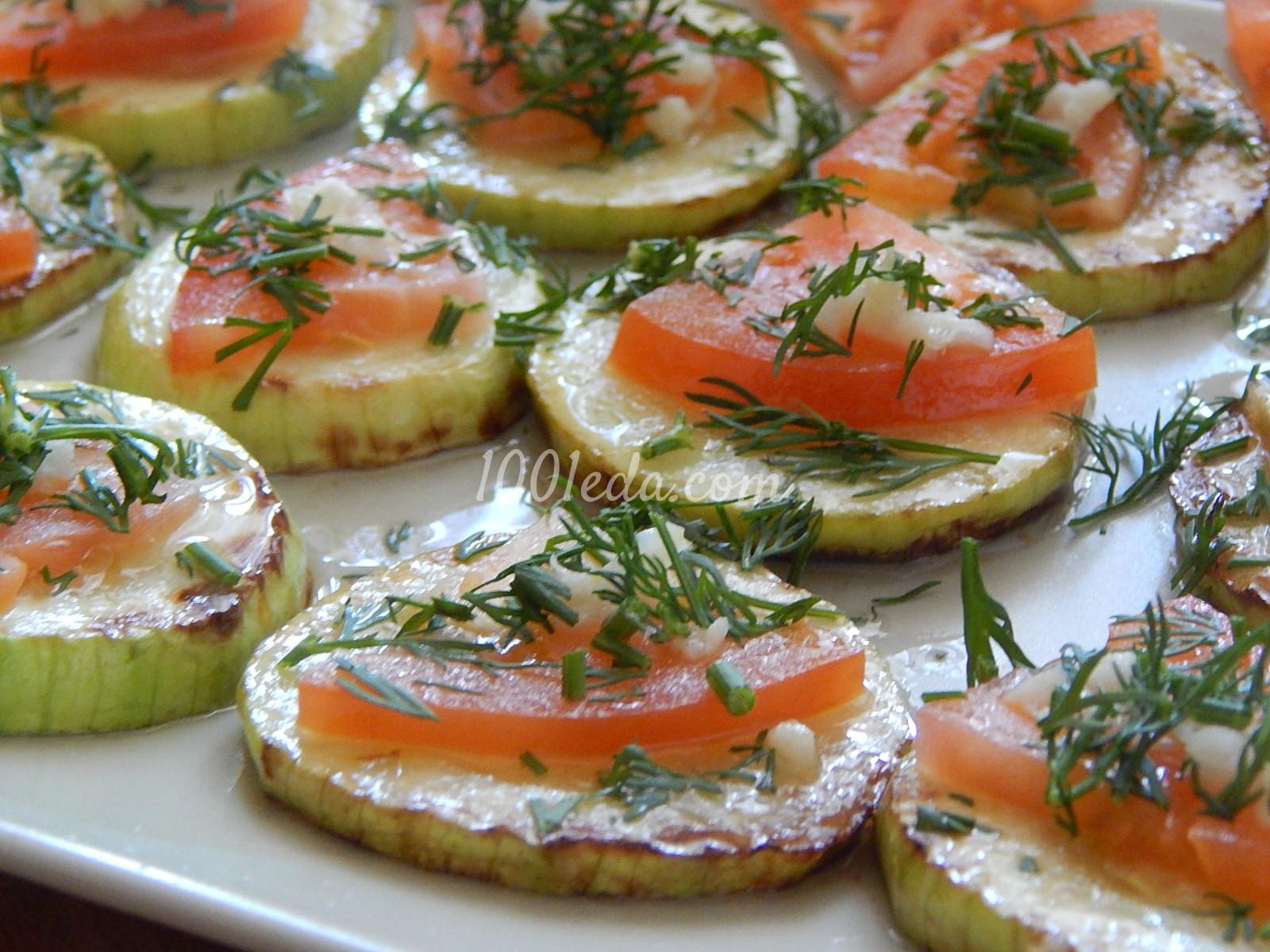 Кабачки с помидорами и чесноком на сковороде рецепт
