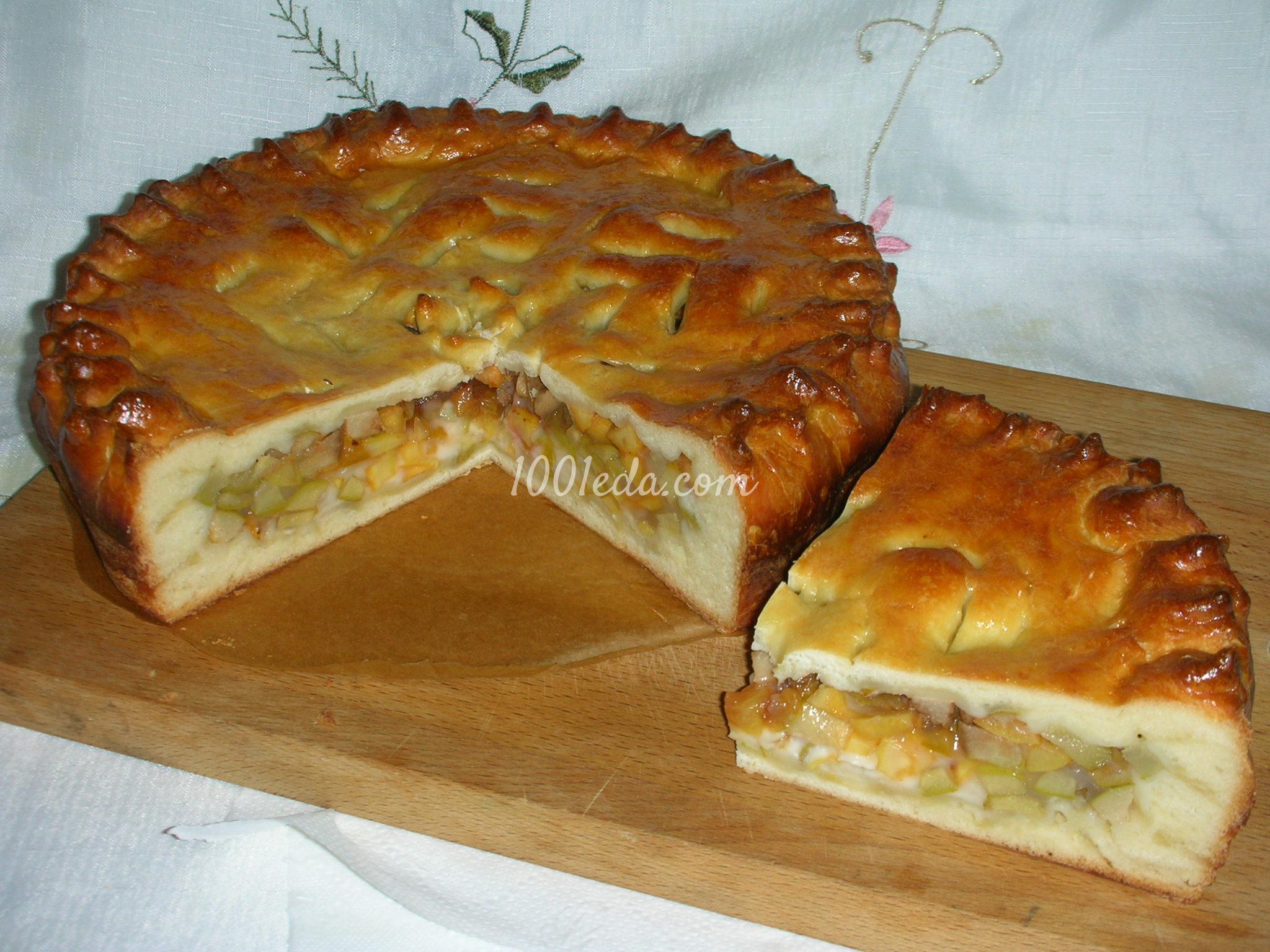 Сдобный пирог с яблоками рецепт с фото пошагово в духовке