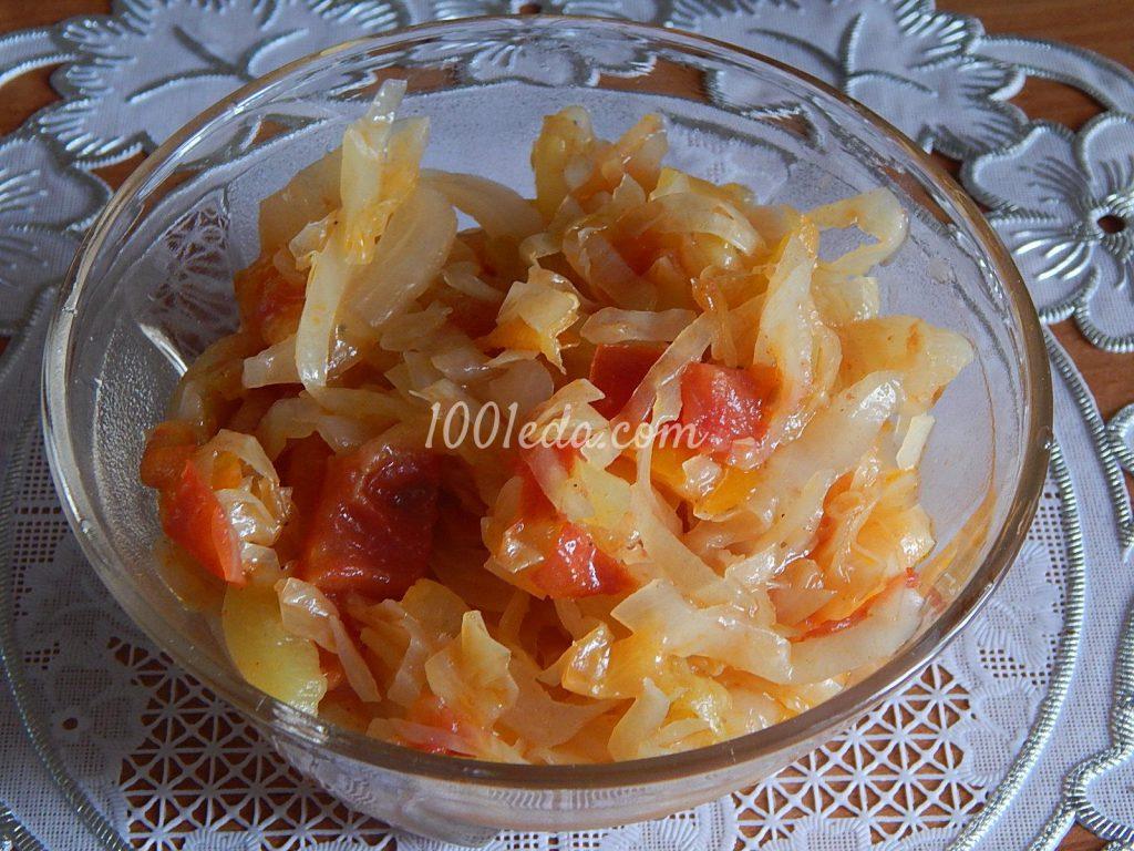 капуста тушеная с помидорами и морковью