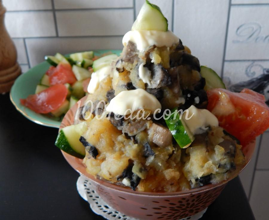 котлеты из картофеля с грибами рецепт с фото