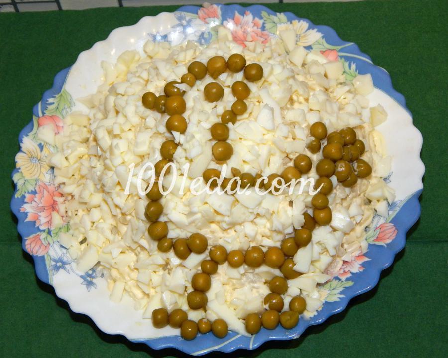 Рисовый салат с малосоленой сельдью Зеленый петушок в сугробе: рецепт с пошаговым фото