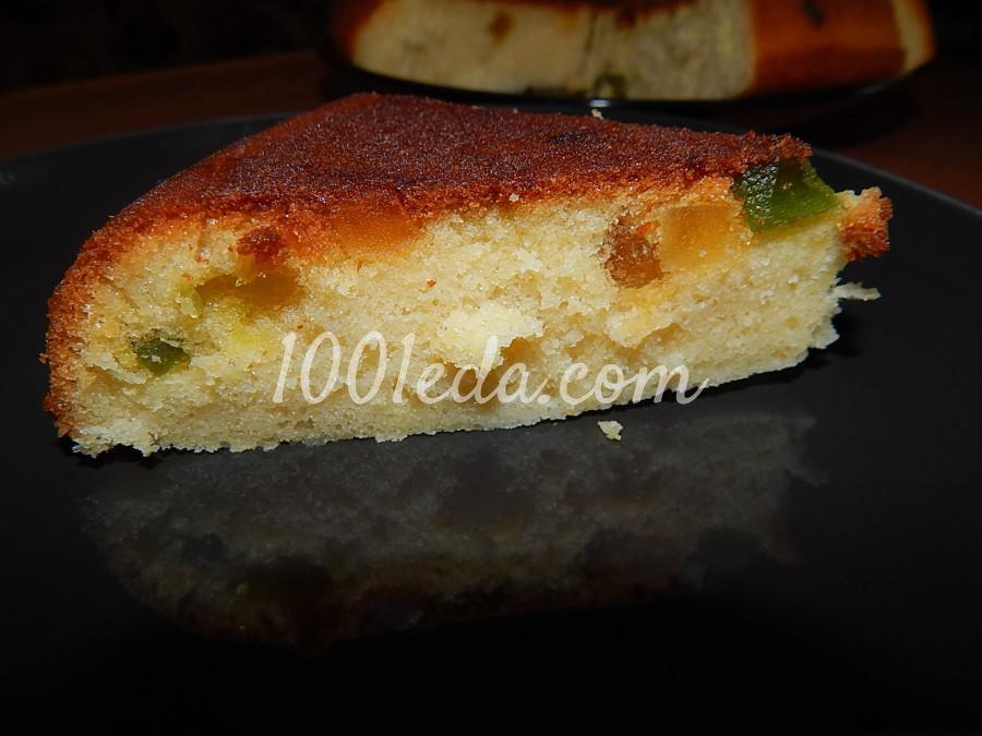 Лимонный пирог с цукатами в мультиварке: рецепт с пошаговым фото