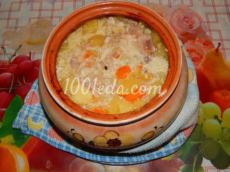 Жаркое из курицы с овощами в горшочке