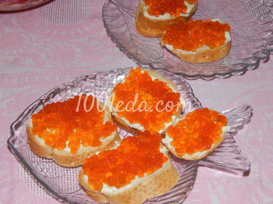 Рецепт блинов с икрой и сыром