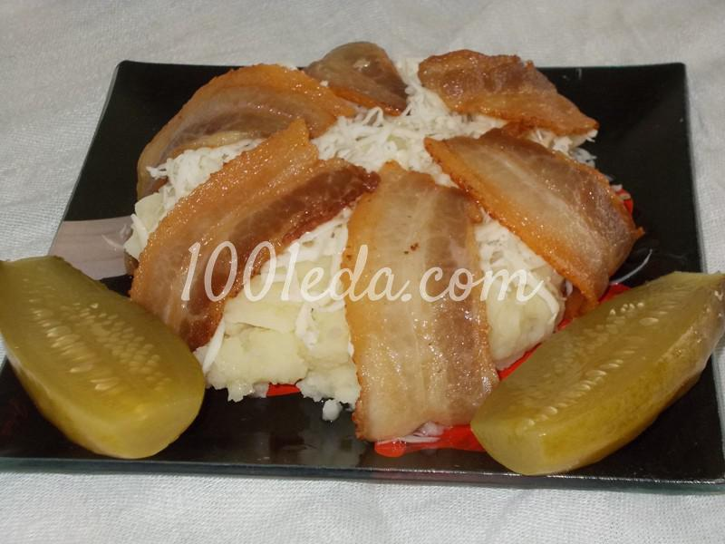 Картофельное пюре с сыром и беконом на ужин для мужа
