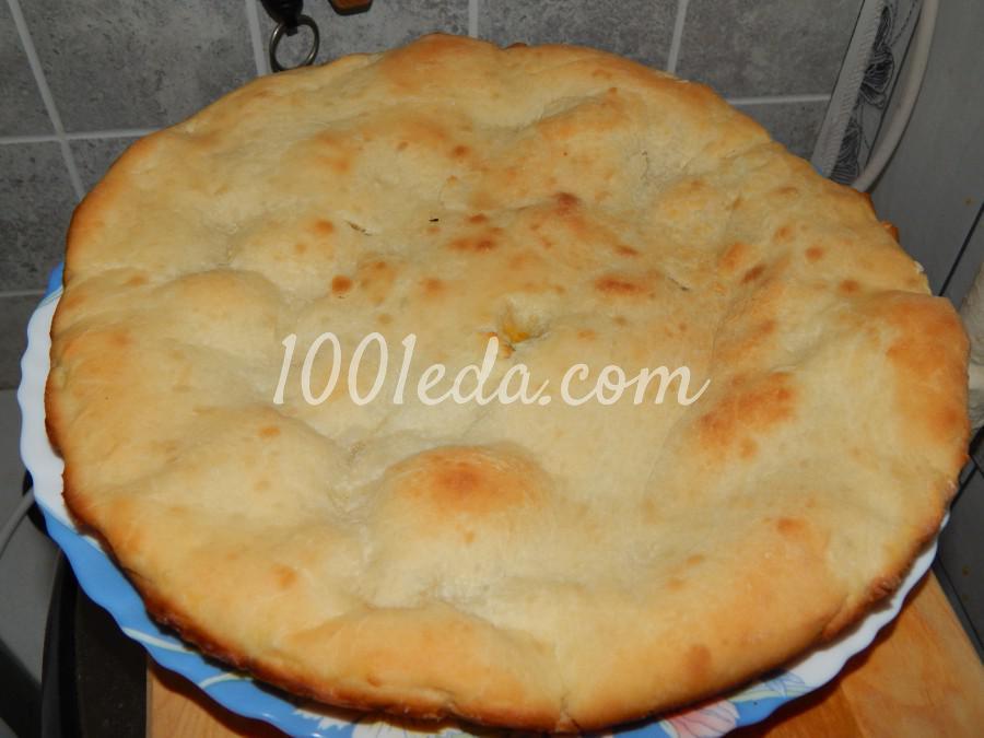 Осетинский пирог с тыквой, сыром и зеленью: пошаговый с фото