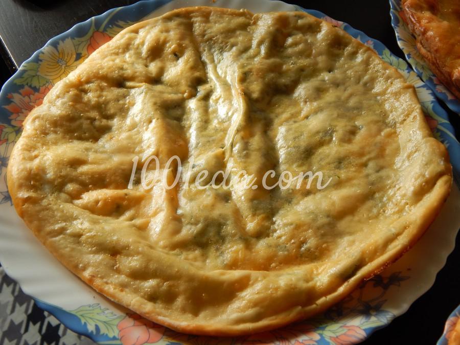 Сырная лепешка с зеленью: пошаговое фото
