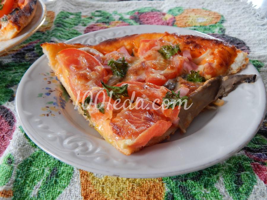 Простая пицца с грибами