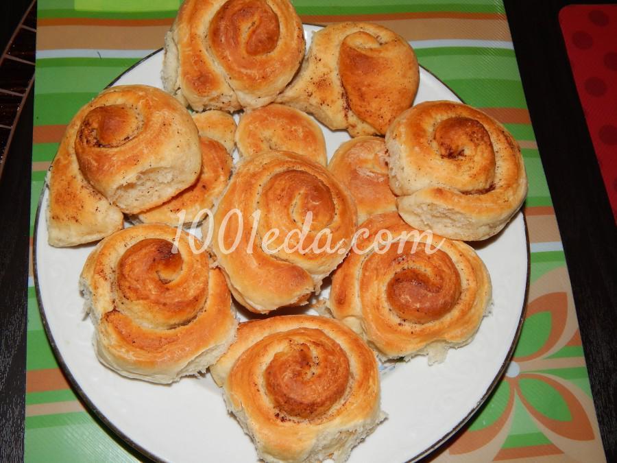 Сладкие, ароматные булочки с корицей: пошаговый с фото