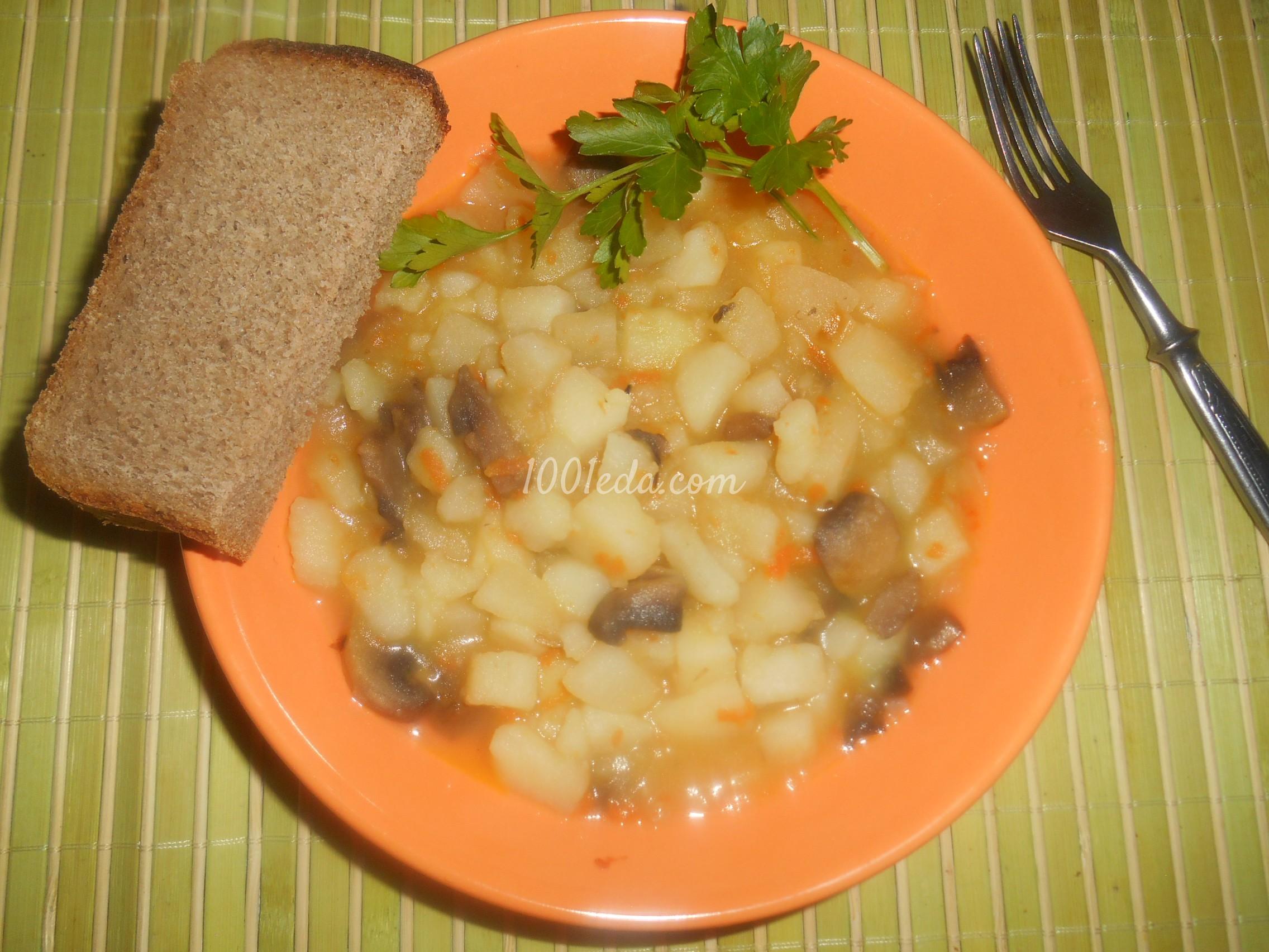 Мясо в духовке с картофелем и грибами – Пошаговый рецепт с ...