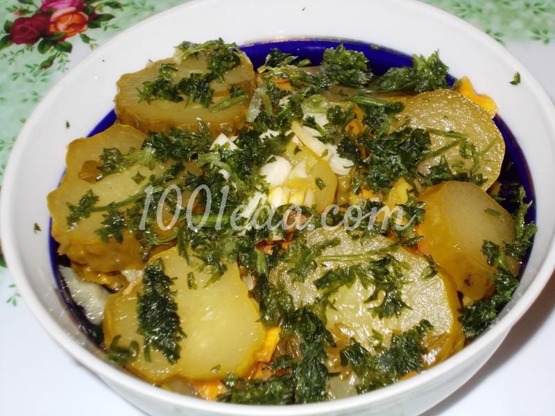 Салат из маринованных огурцов - постный