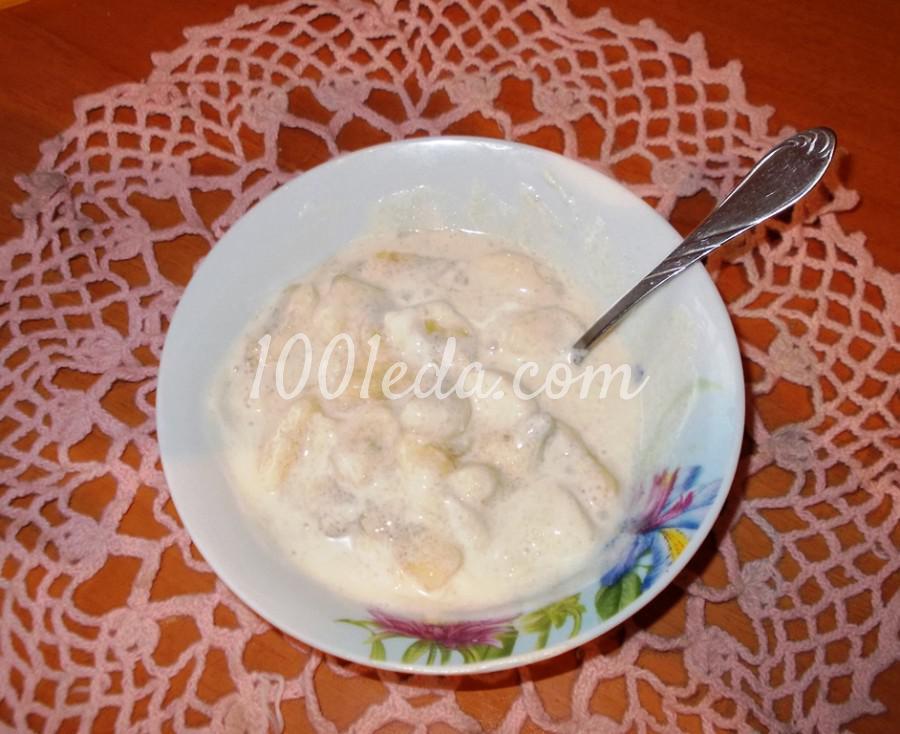 Банан со сливками (сметаной): пошаговое фото