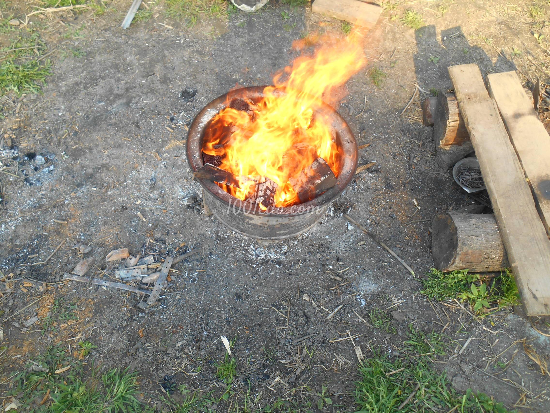 курица в фольге на углях рецепт с фото